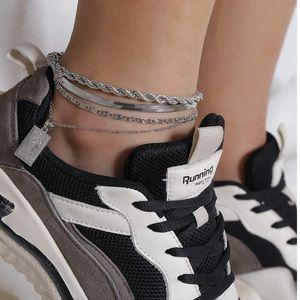 Jewelry - Silver Plated 4 pcs Anklets  Bracelet New Anklet